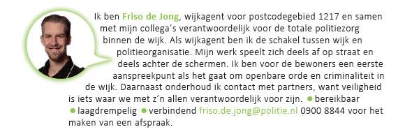 Friso de Jong, wijkagent De Parken Hilversum